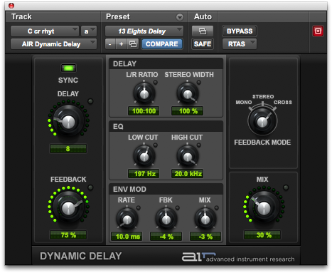 C cr rhyt - air dynamic delay